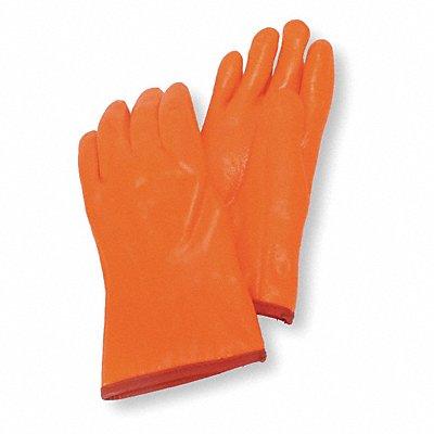 Cold Protection Gloves Foam/Jersey Lining Gauntlet Cuff Hi Visibility Orange L PR 1