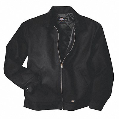 Jacket Insulated Poly/Cotton Black M