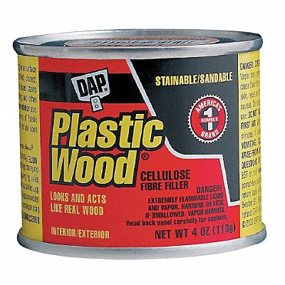 Solvent Wood Filler 4 oz Size Light Wood Color Container Type Can