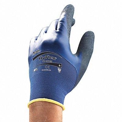 18 Gauge Rough Nitrile Coated Gloves Glove Size 9 Blue