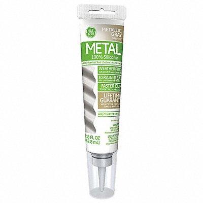 Metallic Gray Sealant Silicone 2.8 oz Tube