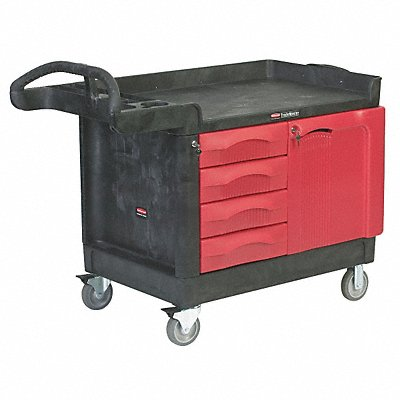 Mobile Cabinet Workbench Structural Foam Plastic 26-1/4 Depth 38 Height 49 Width