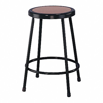 Round Stool with 24 Seat Height Range and 300 lb Weight Capacity Black