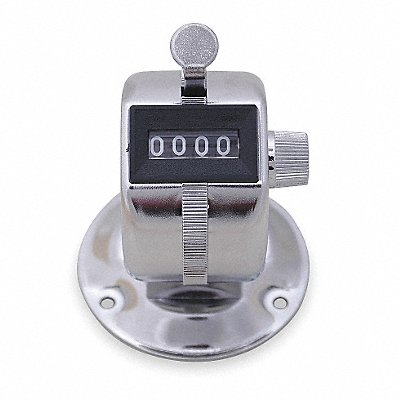 Mechanical Tally Counter Silver Number of Digits 4 Bench Top Mounting