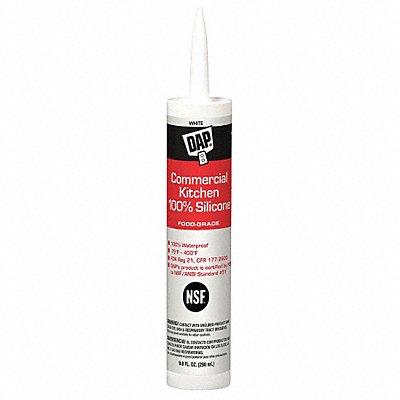 White Sealant Silicone 9.8 oz Cartridge