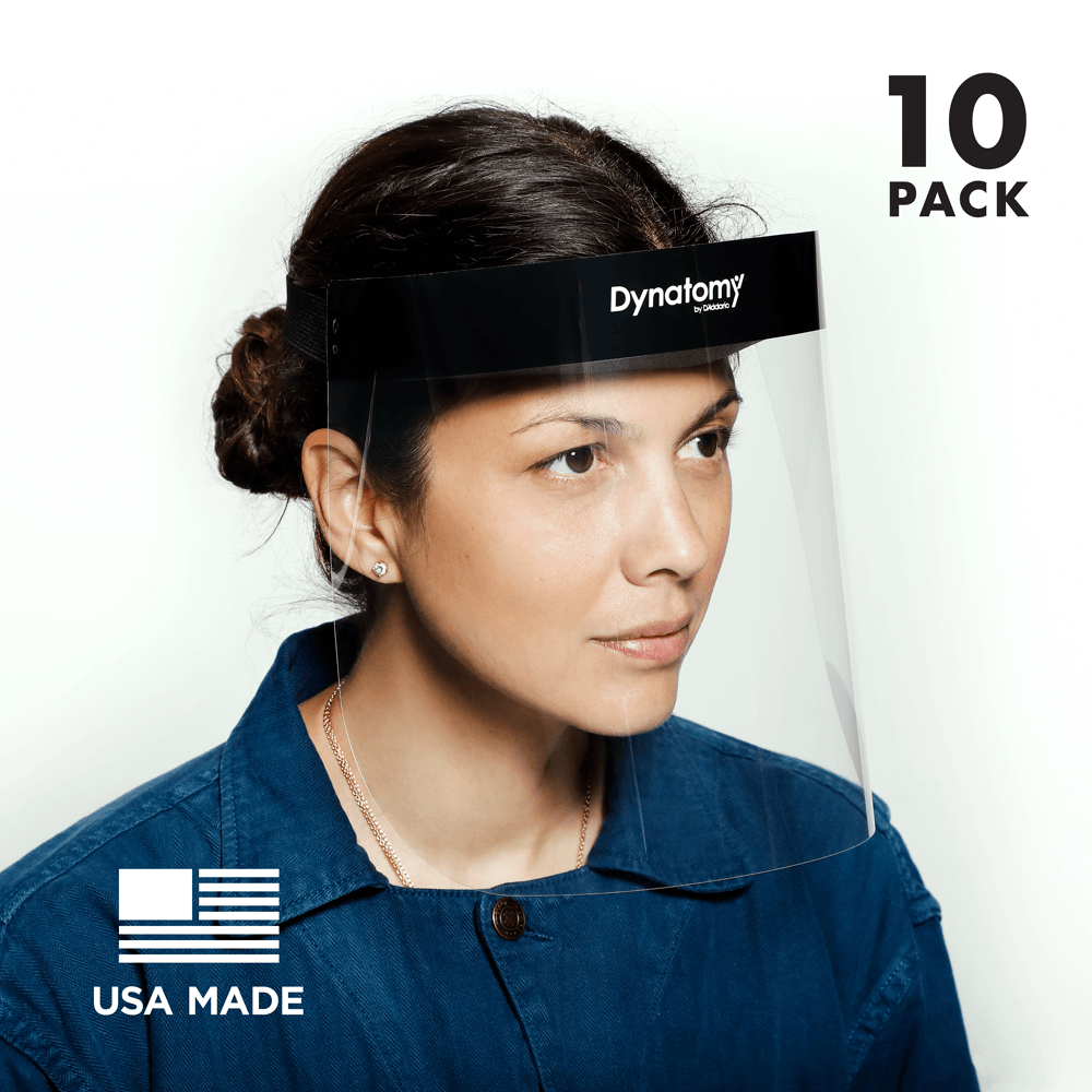 Dynatomy Face Shield, Full Face Protection, US Made,  Pallet of 3000