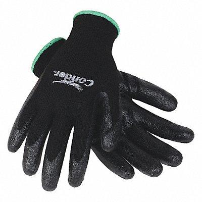 10 Gauge Smooth Nitrile Coated Gloves Glove Size XL Black/Black