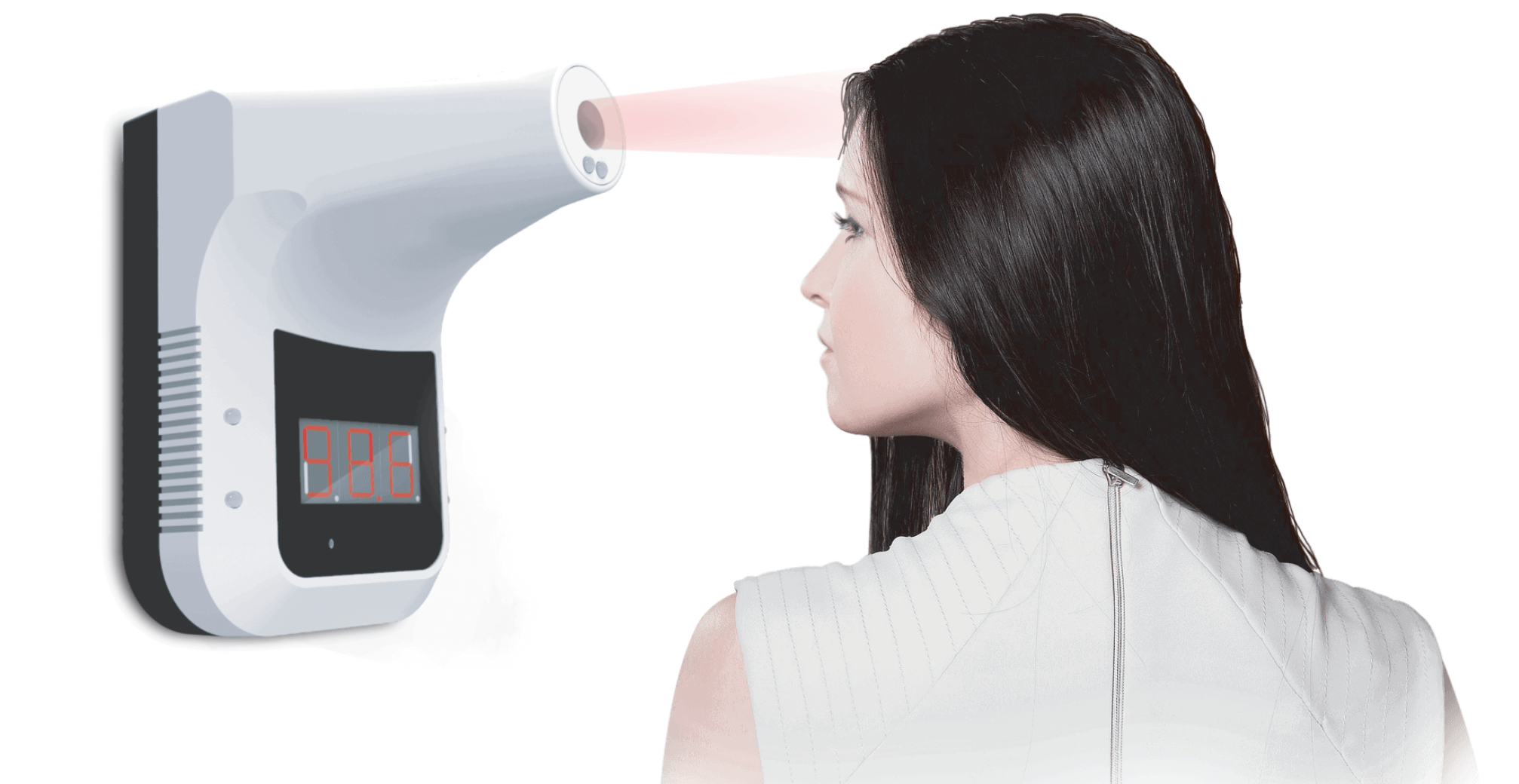 Infrared Thermometer, Wall Mounted Non-Contact