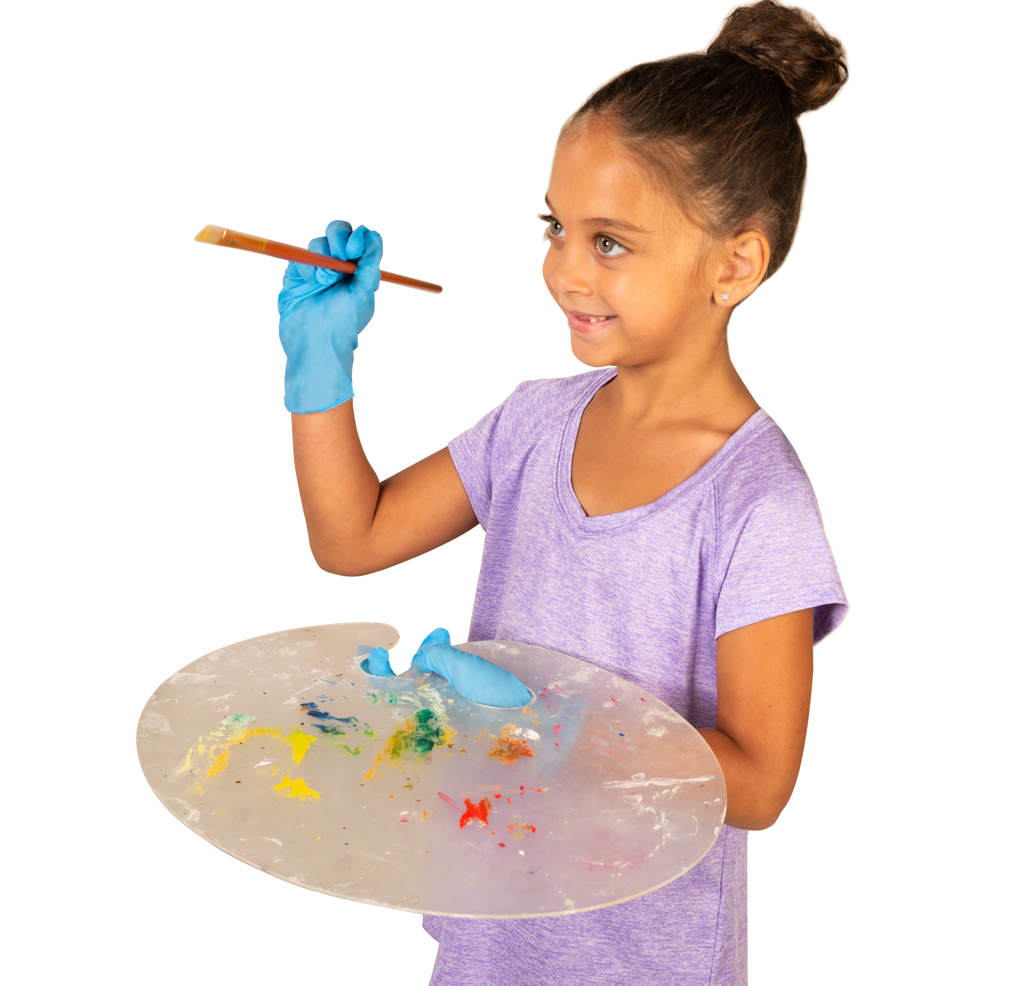 Tronex Kids Nitrile Disposable Gloves for 6-12 Years, Food Safe, Multipurpose, Fingertip-Textured,