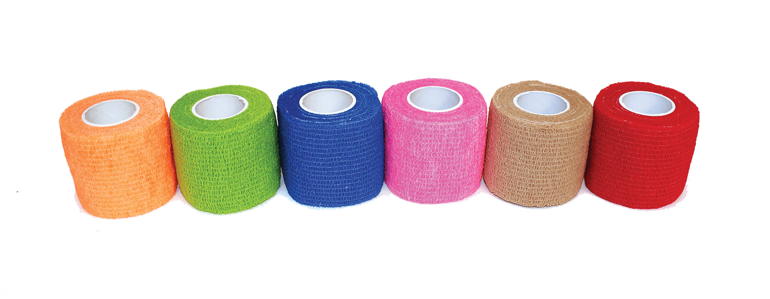 "2"" X 5 Yards Cohesive Bandage, Non-latex, 36 Rolls Per Case"