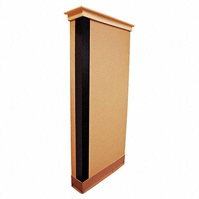 Corner Guard PVC Plastic 48 Height 1 Width 0.085 Thickness Black