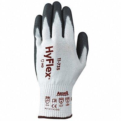 Polyurethane Cut Resistant Gloves ANSI/ISEA Cut Level 4 HPPE Lining Black White 10 PR 1
