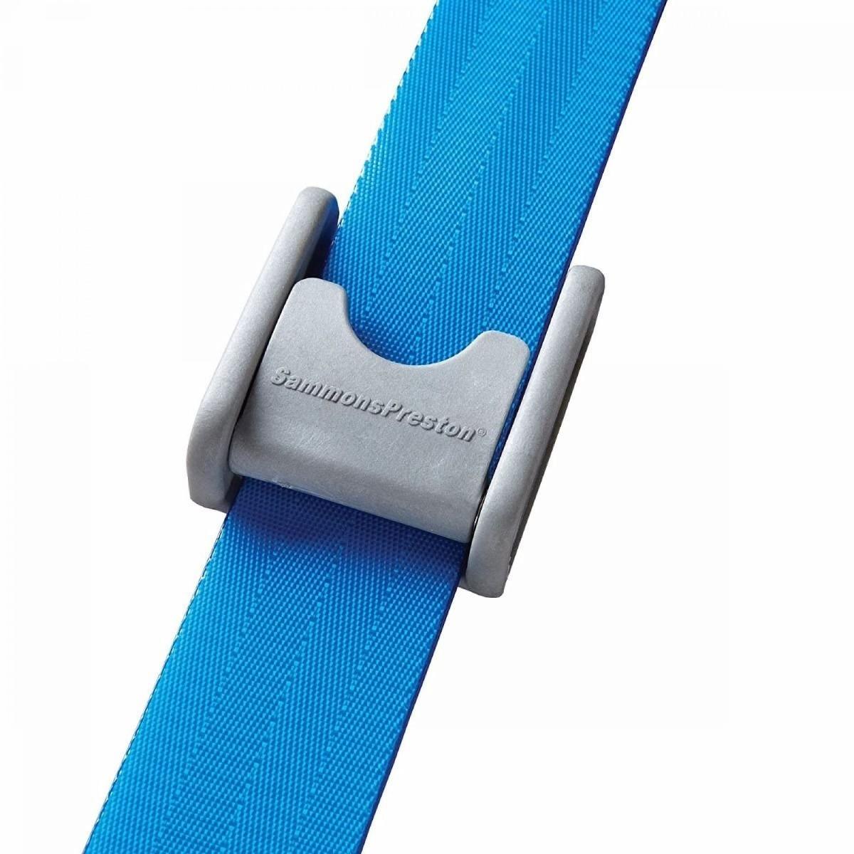 "Sammons Preston Quick Clean Gait Belts, Blue, 72""L, Plastic Buckle"