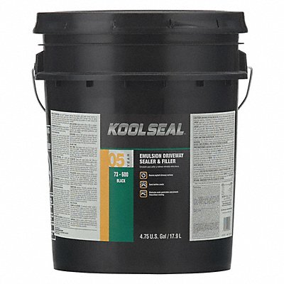 5 gal Pail Asphalt Sealer 4 hr Dry Time Recoat 1 day Full Cure Time