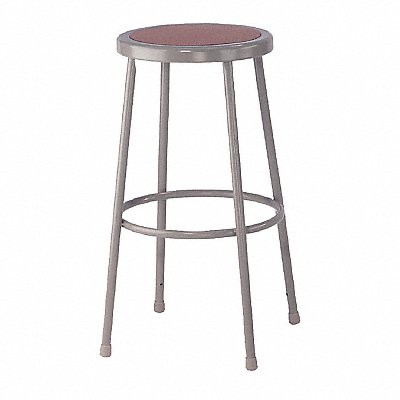 Round Stool with 30 Seat Height Range and 300 lb Weight Capacity Gray