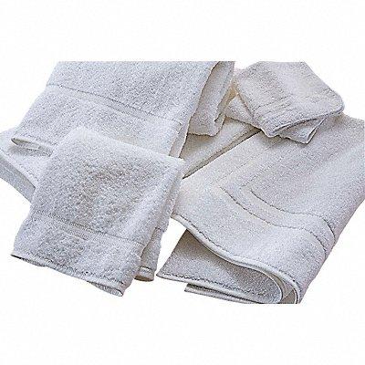 50 x 27 50/50 Polyester/Cotton Base 100 Cotton Loops Bath Towel White PK12