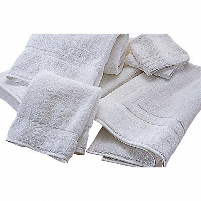 12 x 12 Cotton/Polyester Wash Towel White PK12