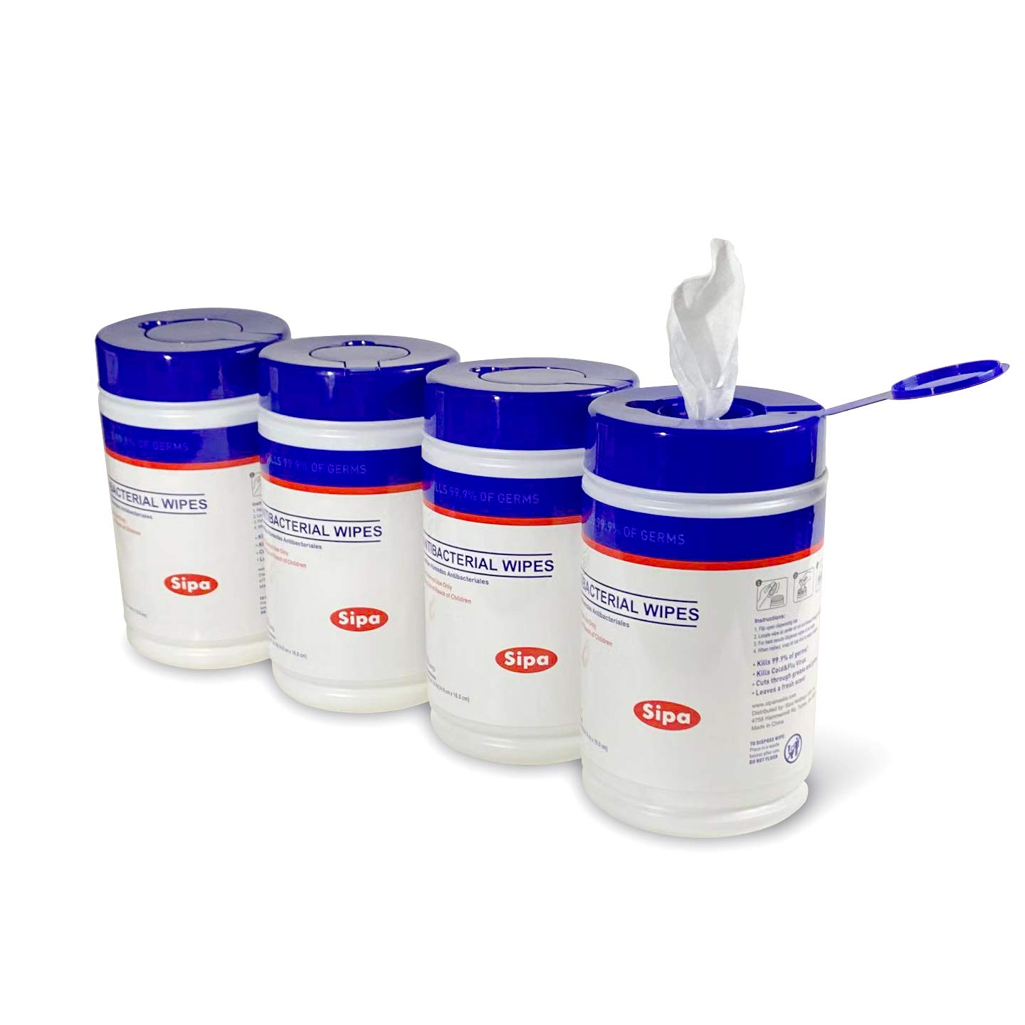 Anti-Bacterial Disinfectant Wipes (Case of 24 Canisters)
