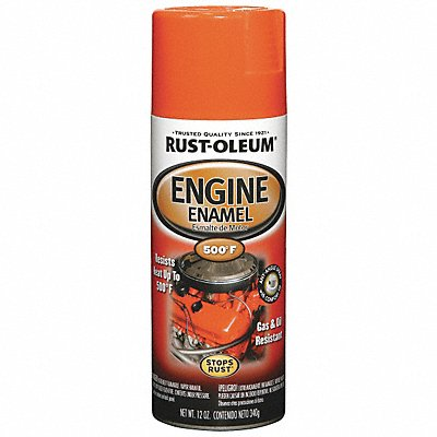 Engine Enamel Chevy Orange 12 oz Spray