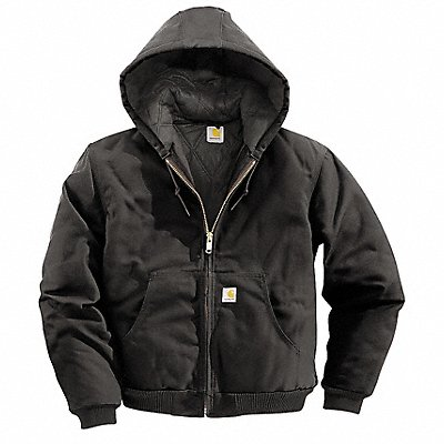 Hooded Jacket Insulated Black L