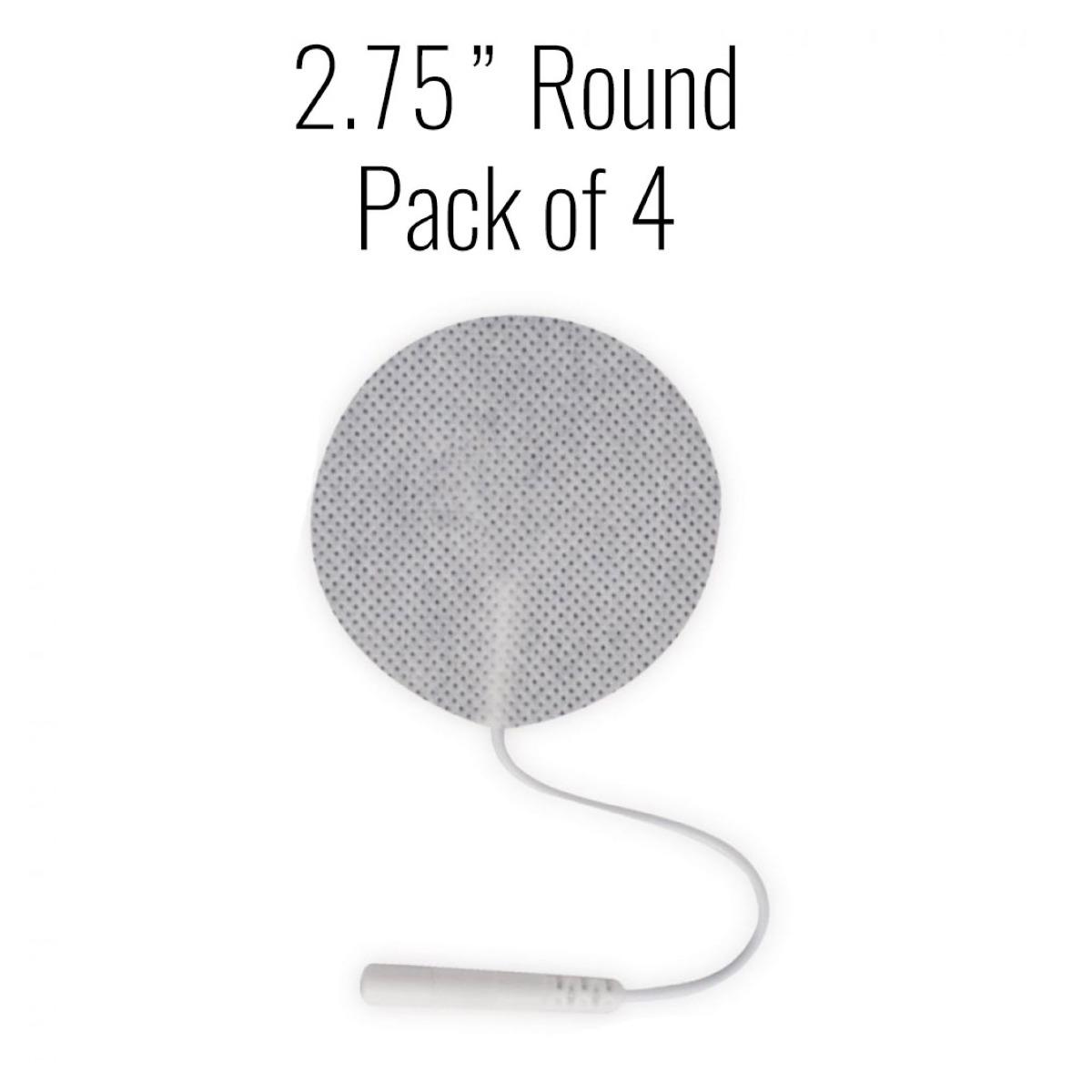 """Metron Cloth Electrodes, 2.75"""" Round , 4/pk."""