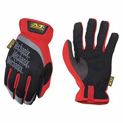 Leather Mechanics Gloves Synthetic Leather Palm Material Red L PR 1