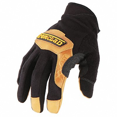 Leather Mechanics Gloves Goatskin Leather Palm Material Black XL PR 1