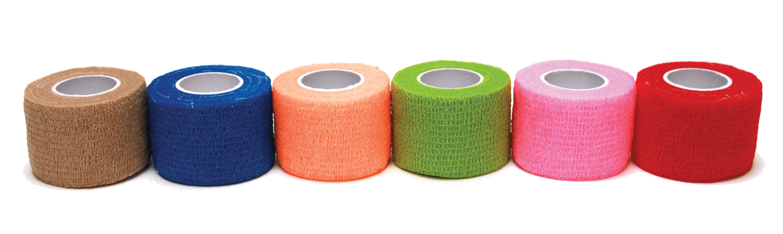 "1 1/2"" X 5 Yards Cohesive Bandage, Non-latex, 48 Rolls Per Case"