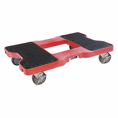 32 L x 20-1/2 W x 7 H Red General Purpose Dolly 1500 lb Load Capacity