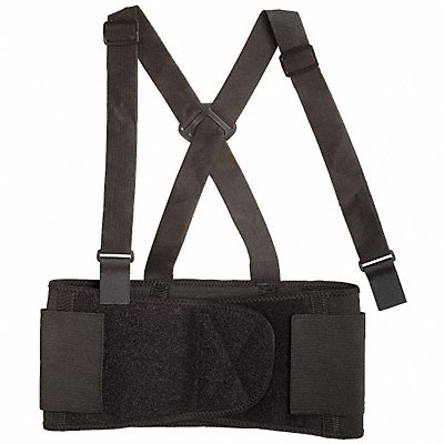 Elastic Back Support with Stay 7-1/2 Width M Black