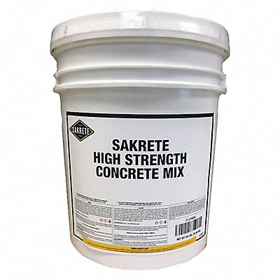 50 lb Pail High Strength Concrete Mix Gray 0.38 cu ft Coverage Starts to Harden in 1 day