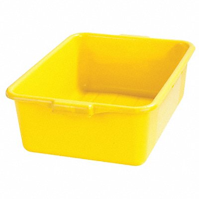 20 x 15 x 7 Durable Resin Tote Box Yellow
