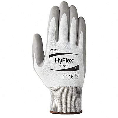 Polyurethane Cut Resistant Gloves ANSI/ISEA Cut Level 2 HPPE Lining Gray 8 PR 1