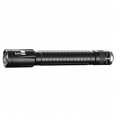 Industrial LED Handheld Flashlight Aluminum Maximum Lumens Output 250 Black