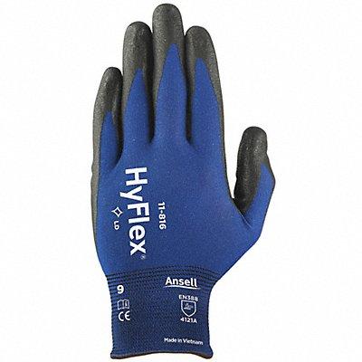 18 Gauge Foam Nitrile Coated Gloves Glove Size 10 Blue/Black