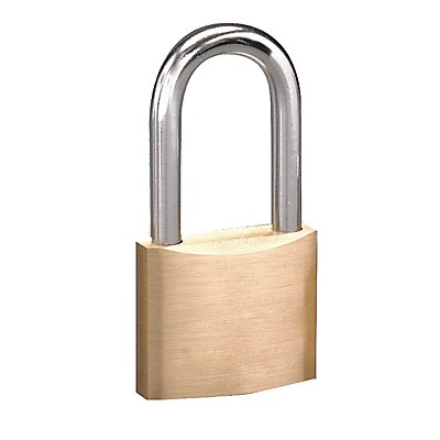 Different-Keyed Padlock Open Shackle Type 1-1/2 Shackle Height Brass