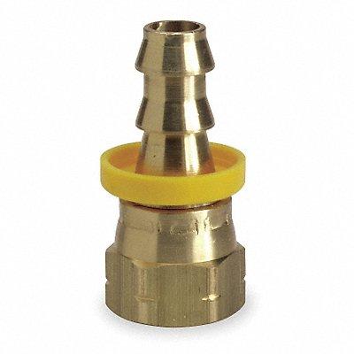 Straight Swivel Brass Push On Hose Fitting