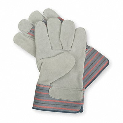 Cowhide Leather Work Gloves Safety Cuff Gray Size 2XL Left and Right Hand