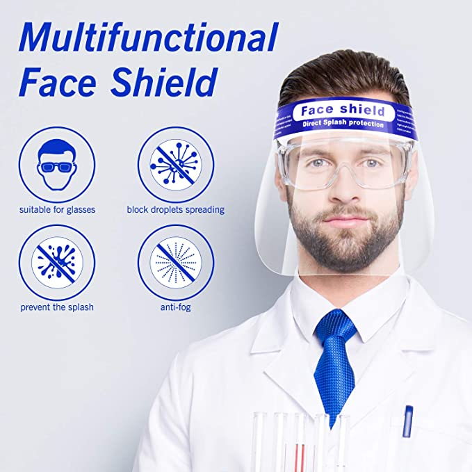 Face Shield, Anti-Fog, Droplet Protection, Splash Protection, Suitable w/Glasses, $0.80 per shield