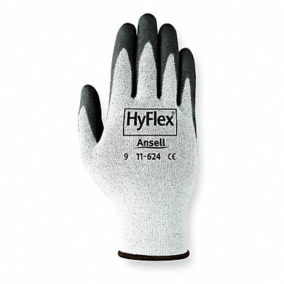 Polyurethane Cut Resistant Gloves ANSI/ISEA Cut Level 2 Dyneema? HPPE Lining Black Gray 12 PR
