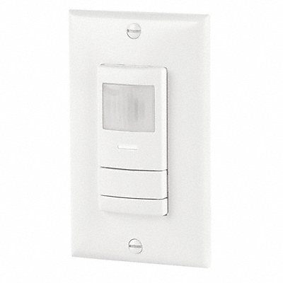 Wall Switch Box Hard Wired Occupancy Sensor 2000 sq. ft Microphonic Passive Infrared White
