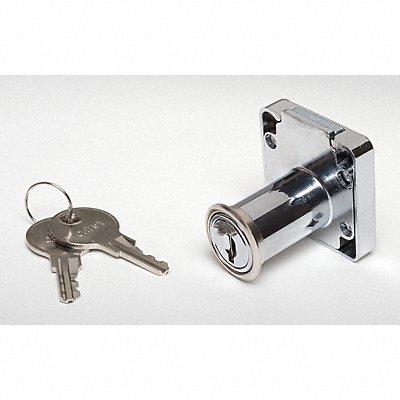 Keyed Alike Drawer Dead Bolt For Door Thickness (In.) 1-1/4 Chrome