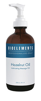 BIOELEMENTS Hazelnut Massage Oil 8 oz.