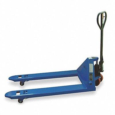 Standard General Purpose Manual Pallet Jack 4400 lb Load Capacity Fork Size 6-1/4 W x 48 L Blue