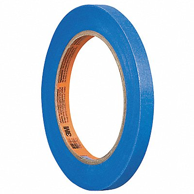 Paper Painters Masking Tape Acrylic Tape Adhesive 3.80 mil Thick 1/4 X 60 yd. Blue 1 EA