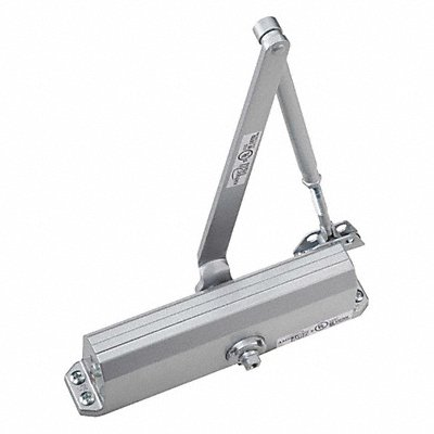 Manual Hydraulic GAV 3101-Series Door Closer Light Duty Interior and Exterior Silver