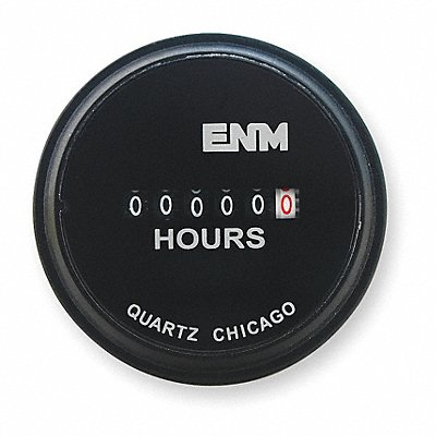 Hour Meter 24VAC Operating Voltage Number of Digits 6 Round Bezel Face Shape