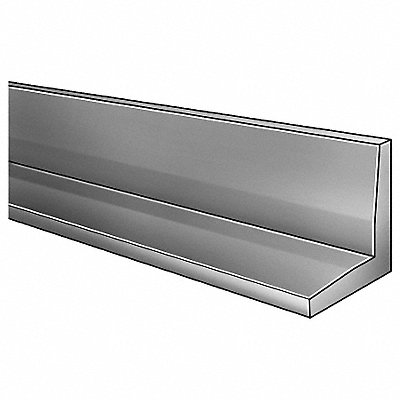 4 ft 6061 Aluminum Angle Stock 90¬ 1/4 Thick 2 Leg Length