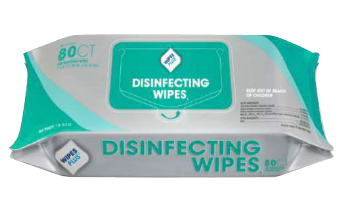 EPA Registered Disinfecting Surface Wipes, Water Based Formula,  Lint Free Wipes, 80 Wipes per Pack