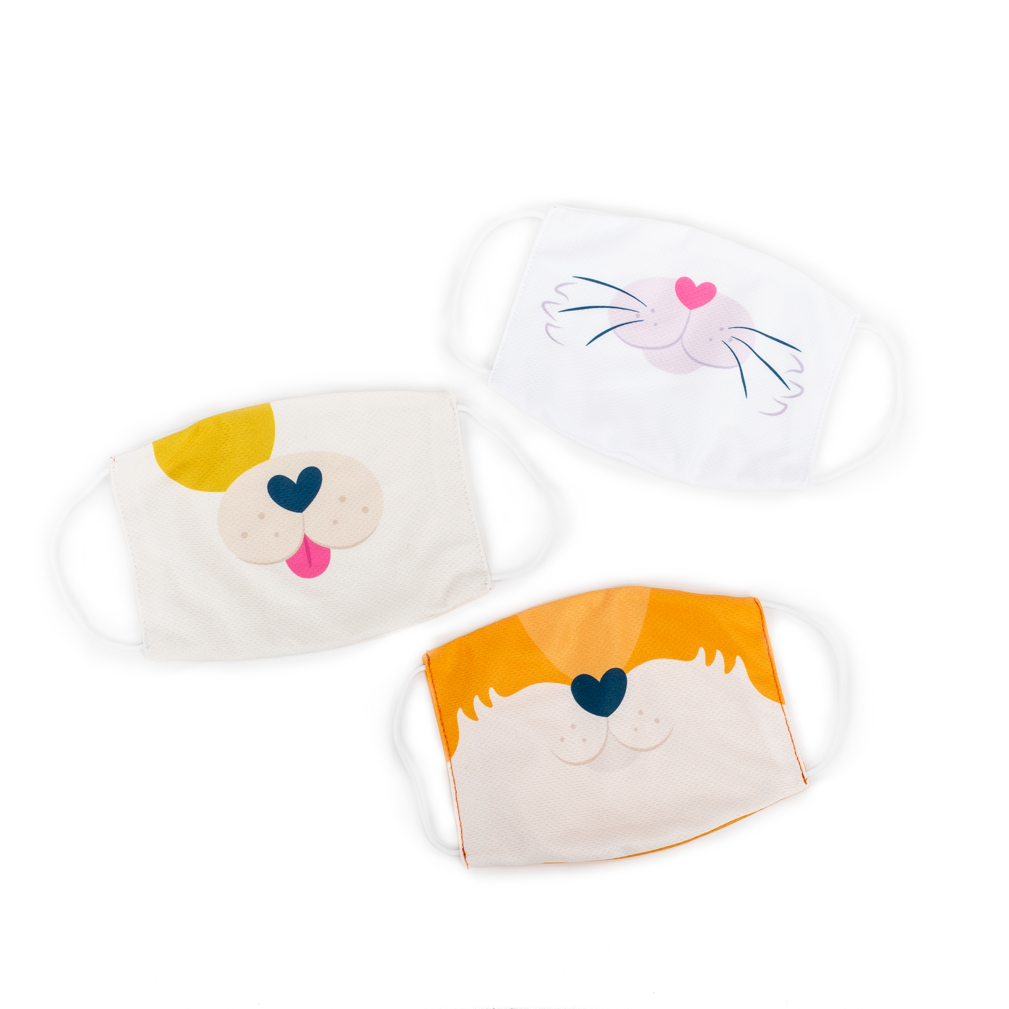 Children's Puppy, Kitty and Fox Reusable Face Masks I Free Shipping